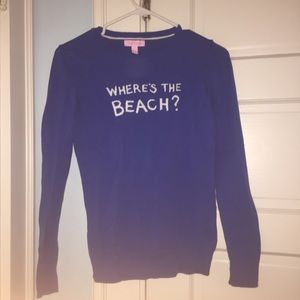"""Lily Pulitzer """"Where's the Beach?"""" Sweater"""